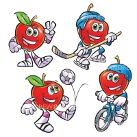 Motts Apple Characters