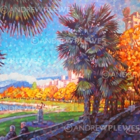 "English Bay Palms 36""x24"""