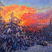 "Cypress Mountain Sunset 36""x48"""