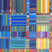 "Blue Stripes 30""x15"""