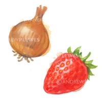 Onion and Strawberry