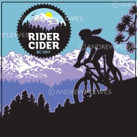 Rider Cider Logo and Can