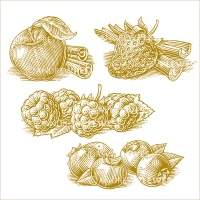 Woodcut Fruit